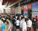 郑州连锁加盟展门口排队